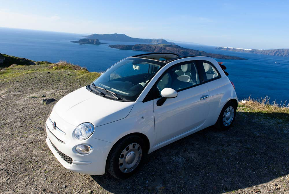 Alquiler de coche Santorini